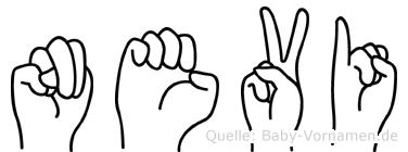 Nevi in Fingersprache für Gehörlose
