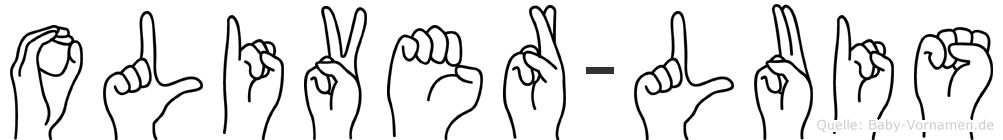 Oliver-Luis im Fingeralphabet der Deutschen Gebärdensprache