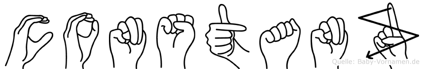 Constanz im Fingeralphabet der Deutschen Gebärdensprache