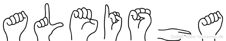 Aleisha in Fingersprache für Gehörlose