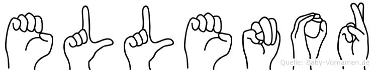 Ellenor im Fingeralphabet der Deutschen Gebärdensprache
