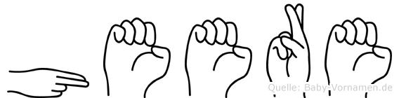 Heere in Fingersprache für Gehörlose