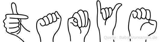Tamye im Fingeralphabet der Deutschen Gebärdensprache