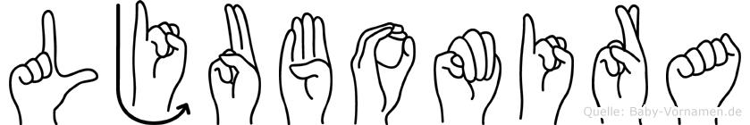 Ljubomira in Fingersprache für Gehörlose