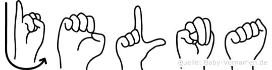 Jelna im Fingeralphabet der Deutschen Gebärdensprache