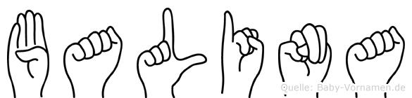 Balina in Fingersprache für Gehörlose