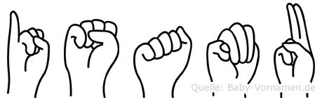 Isamu im Fingeralphabet der Deutschen Gebärdensprache