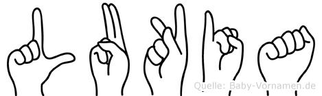 Lukia in Fingersprache für Gehörlose