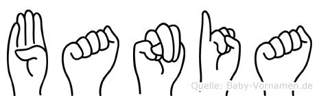 Bania im Fingeralphabet der Deutschen Gebärdensprache