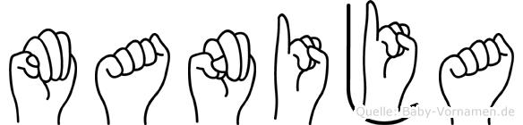 Manija in Fingersprache für Gehörlose