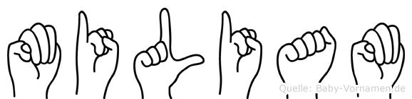 Miliam in Fingersprache für Gehörlose