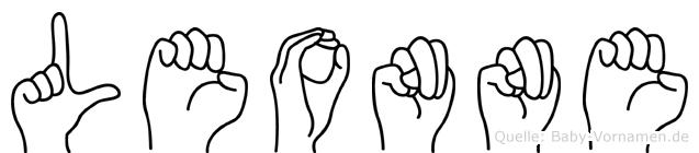 Leonne im Fingeralphabet der Deutschen Gebärdensprache