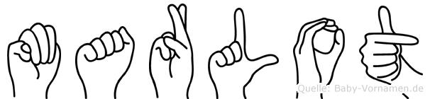 Marlot im Fingeralphabet der Deutschen Gebärdensprache