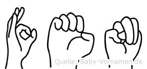 Fen in Fingersprache für Gehörlose