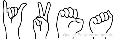 Yvea in Fingersprache für Gehörlose