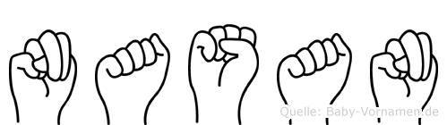Nasan in Fingersprache für Gehörlose