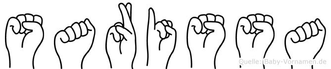 Sarissa in Fingersprache für Gehörlose
