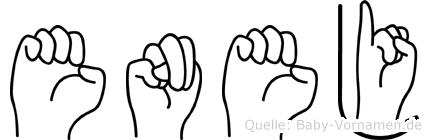 Enej in Fingersprache für Gehörlose