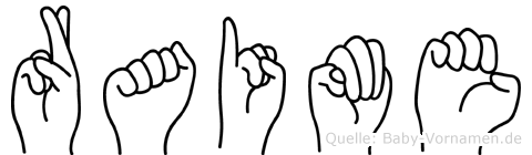 Raime im Fingeralphabet der Deutschen Gebärdensprache