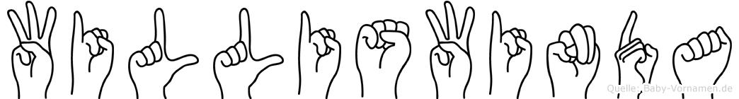 Williswinda im Fingeralphabet der Deutschen Gebärdensprache