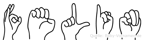Felin in Fingersprache für Gehörlose