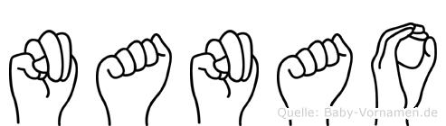 Nanao in Fingersprache für Gehörlose