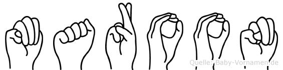 Maroon in Fingersprache für Gehörlose
