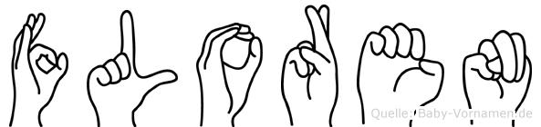 Floren im Fingeralphabet der Deutschen Gebärdensprache