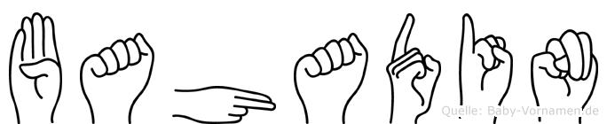 Bahadin im Fingeralphabet der Deutschen Gebärdensprache
