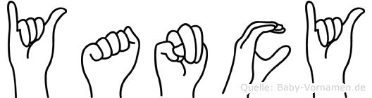 Yancy im Fingeralphabet der Deutschen Gebärdensprache