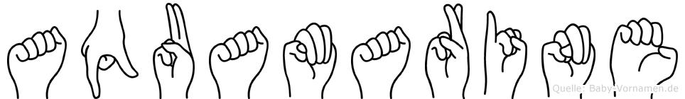Aquamarine im Fingeralphabet der Deutschen Gebärdensprache