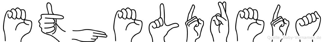 Etheldreda in Fingersprache für Gehörlose