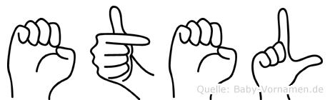 Etel in Fingersprache für Gehörlose