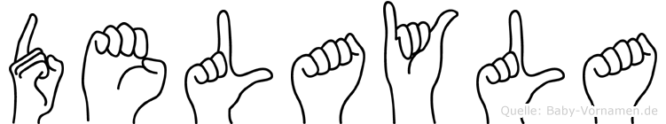 Delayla im Fingeralphabet der Deutschen Gebärdensprache