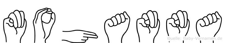 Mohanna in Fingersprache für Gehörlose