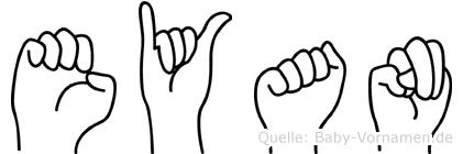 Eyan in Fingersprache für Gehörlose