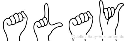Alay im Fingeralphabet der Deutschen Gebärdensprache