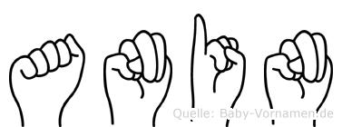 Anin im Fingeralphabet der Deutschen Gebärdensprache