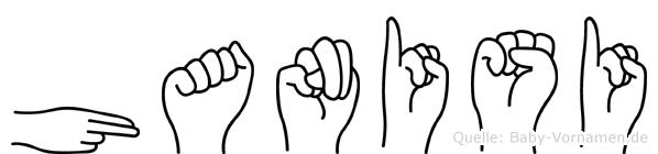 Hanisi in Fingersprache für Gehörlose