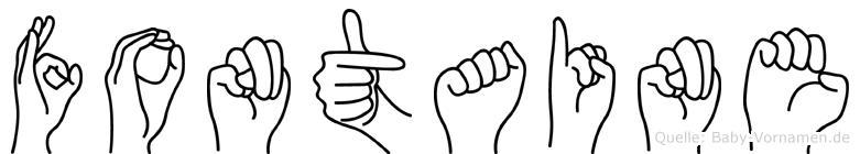 Fontaine im Fingeralphabet der Deutschen Gebärdensprache