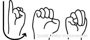 Jenö in Fingersprache für Gehörlose