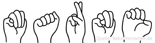 Marne im Fingeralphabet der Deutschen Gebärdensprache