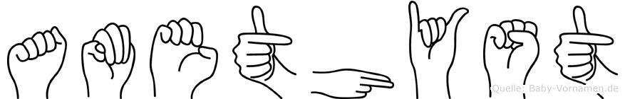 Amethyst in Fingersprache für Gehörlose