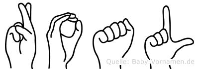 Roal im Fingeralphabet der Deutschen Gebärdensprache