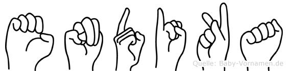 Endika in Fingersprache für Gehörlose