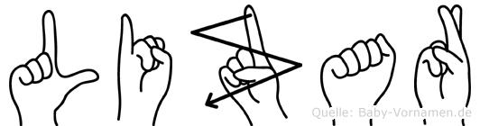 Lizar in Fingersprache für Gehörlose