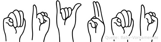 Miyumi in Fingersprache für Gehörlose