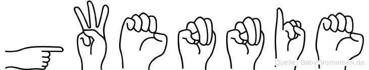 Gwennie im Fingeralphabet der Deutschen Gebärdensprache
