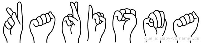 Karisma im Fingeralphabet der Deutschen Gebärdensprache