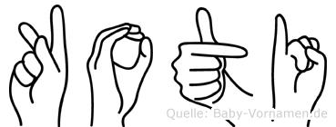 Koti in Fingersprache für Gehörlose